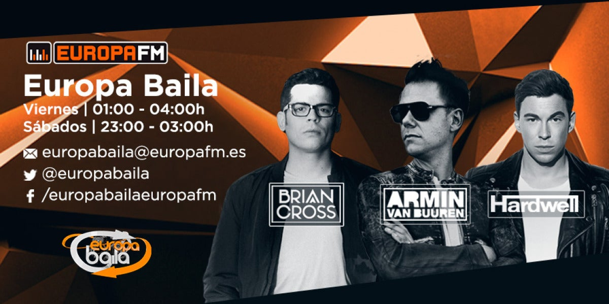 Brian Cross incorpora a Hardwell y Armin van Buuren a Europa Baila