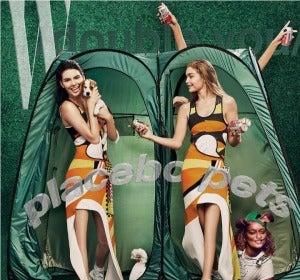 Kendall Jennery Gigi Hadid sin rodillas en la portada de W Magazine