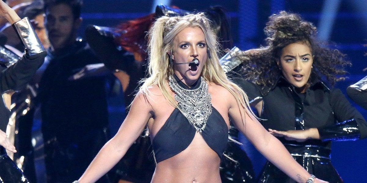 Britney Spears en su espectáculo Piece Of Me en Las Vegas