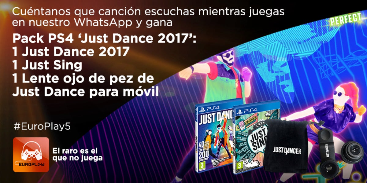 Concurso Europlay | Consigue un pack Just Dance 2017