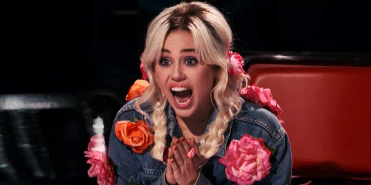 Miley Cyrus en The Voice