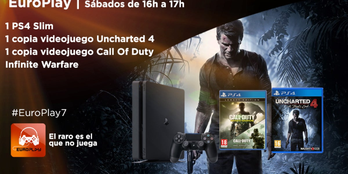 Concurso Europlay: Ps4 Slim, Uncharted 4 y Call Of Duty