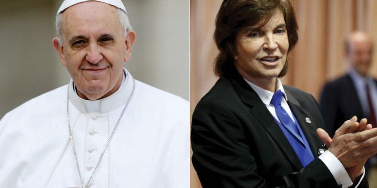 El dueto entre el papa Francisco y Camilo Sesto