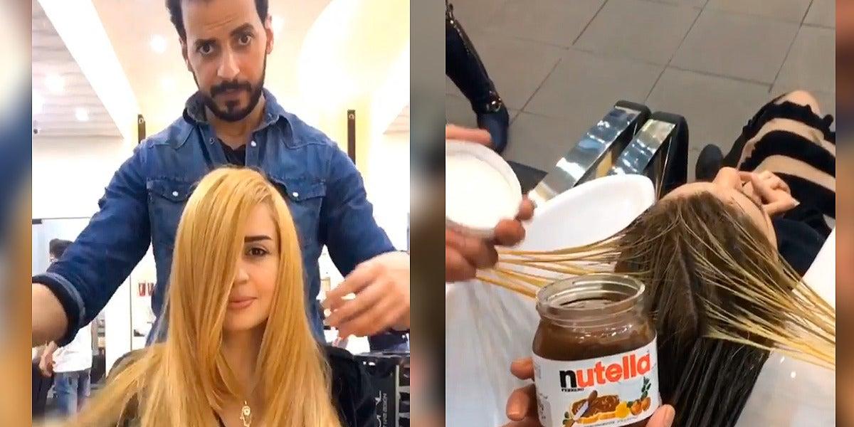 Tinte de pelo con Nutella