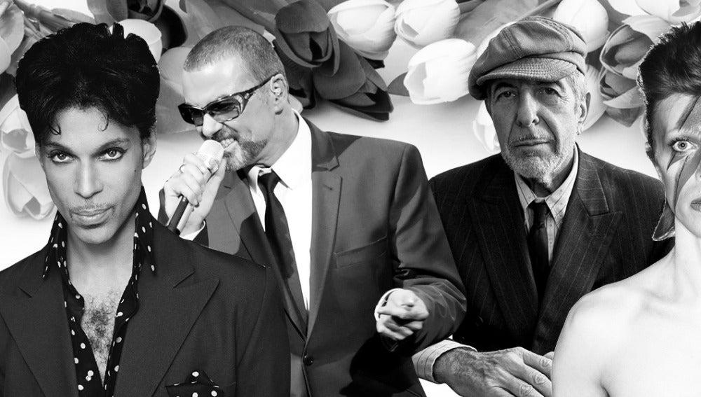 Prince, George Michael, Leonard Cohen y David Bowie han fallecido en 2016