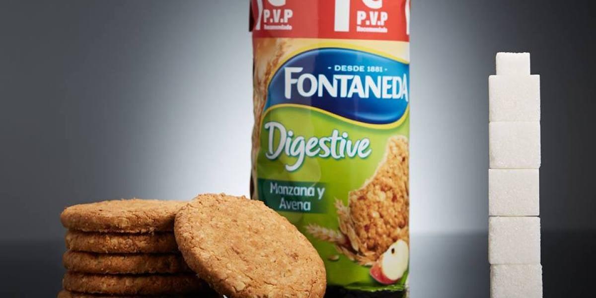 6 galletas Digestive de Manzana y Avena (75g) contienen 21g de azúcar (más de 5 terrones)