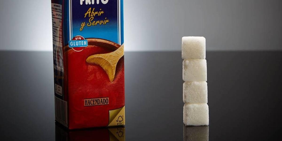 Un brik pequeño (210ml) de tomate frito tiene 16 gramos de azúcar (4 terrones)