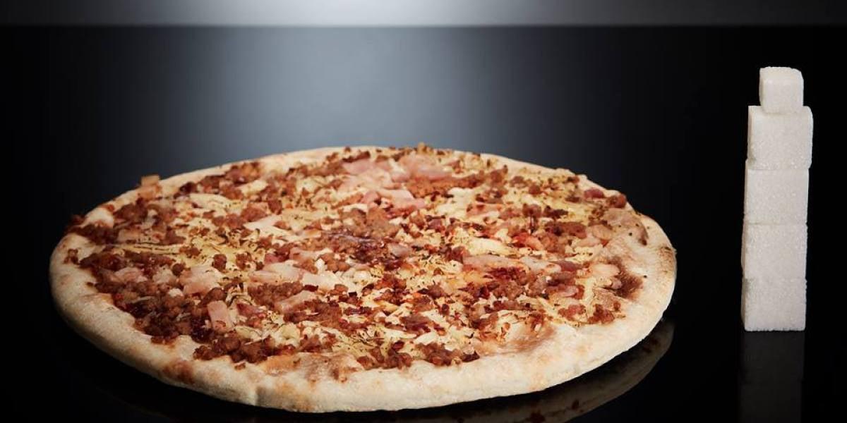 Una pizza Individual tiene 17g de azúcar (4,2 terrones).