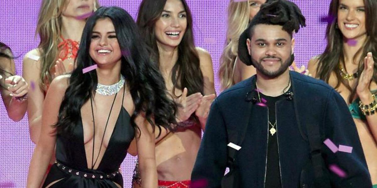 Selena Gomez y The Weeknd en el Victoria's Secret Fashion Show 2015