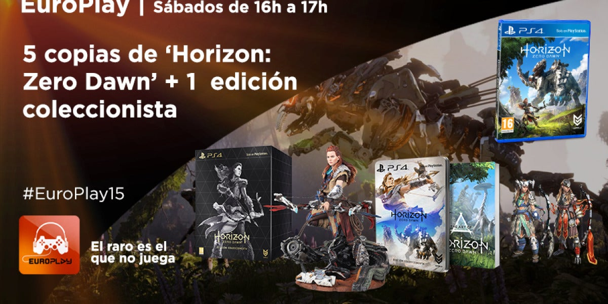 Llévate una copia de Horizon Dawn con Europlay