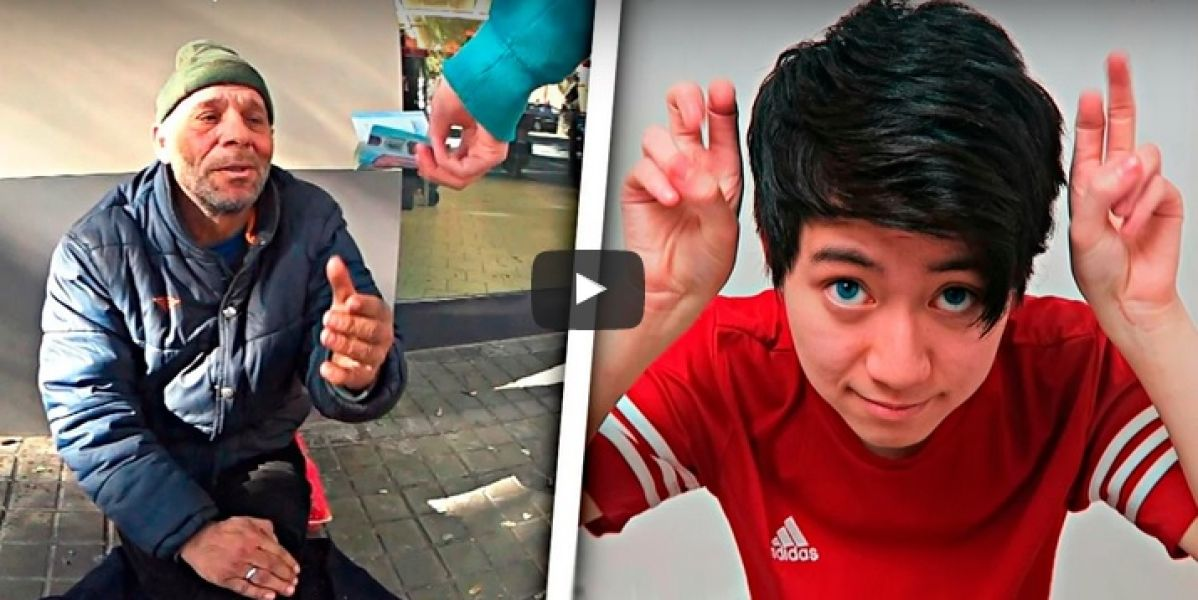 Reset, en el vídeo donde da de comer a un sintecho