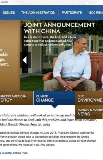 Políticas de Obama sobre cambio climático