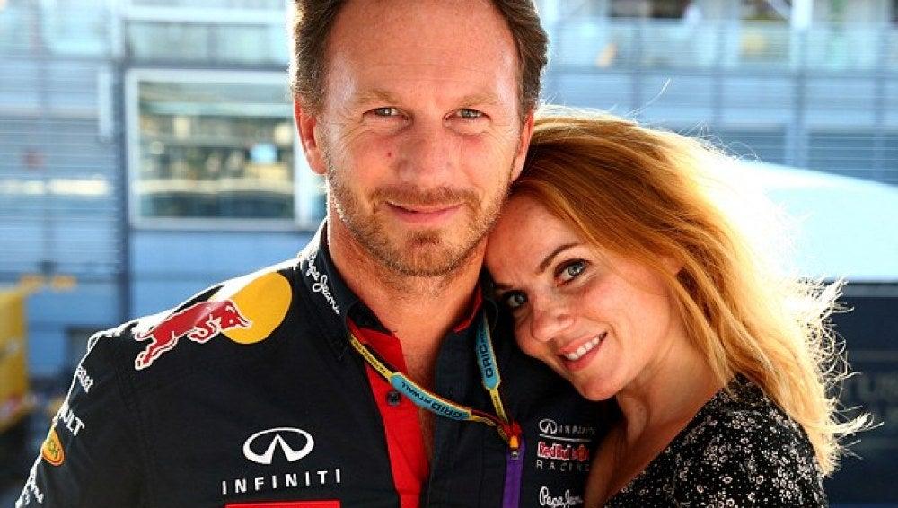 Christian y Geri Horner