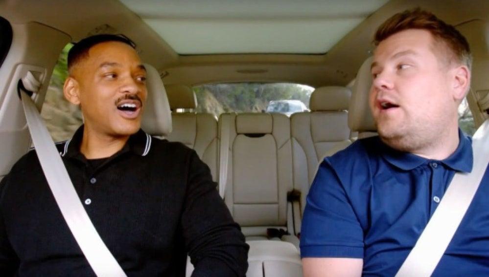 Will Smith en el Carpool Karaoke de James Corden