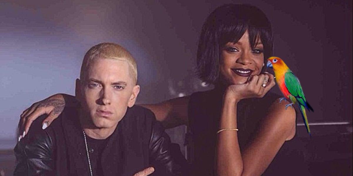 El loro que canta como Rihanna