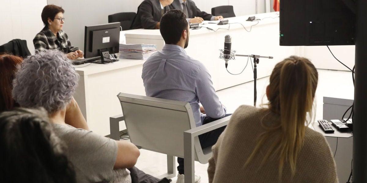 El rapero Valtonyc durante su juicio