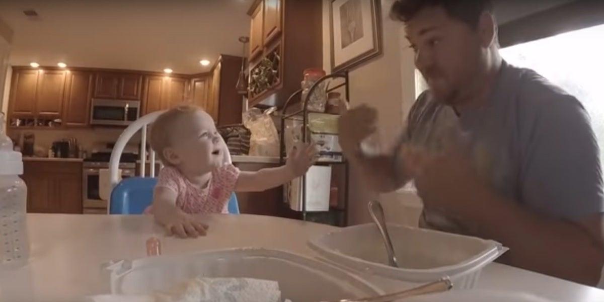 Kevin Nadrowski y su hija
