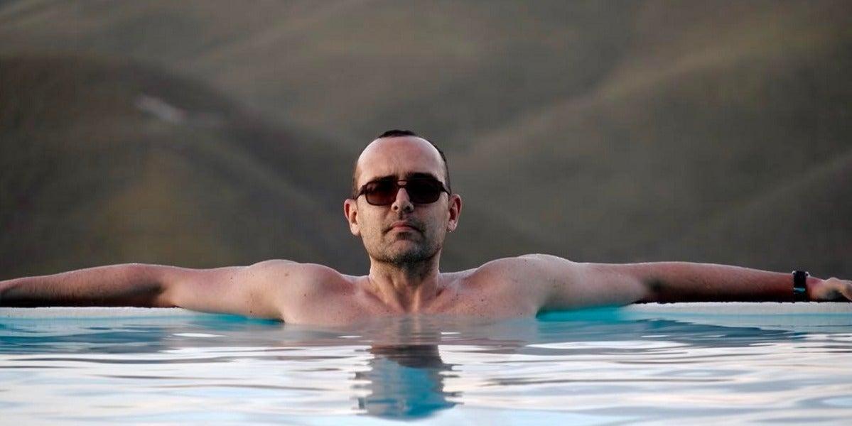 Risto Mejide en un lago