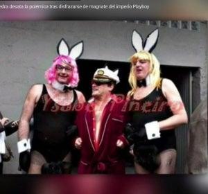 El cura de un pueblo de Pontevedra se disfraza de magnate del imperio Playboy