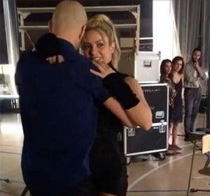 Shakira en el set de rodaje de 'Deja Vu'