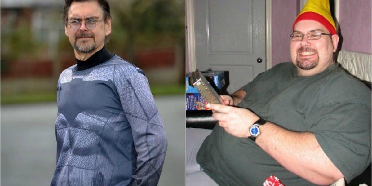 Un hombre cambia radicalmente su imagen tras un año sin comer comida basura