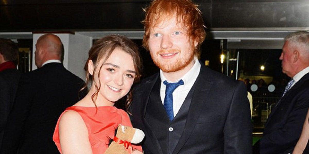 Maisie Williams y Ed Sheeran