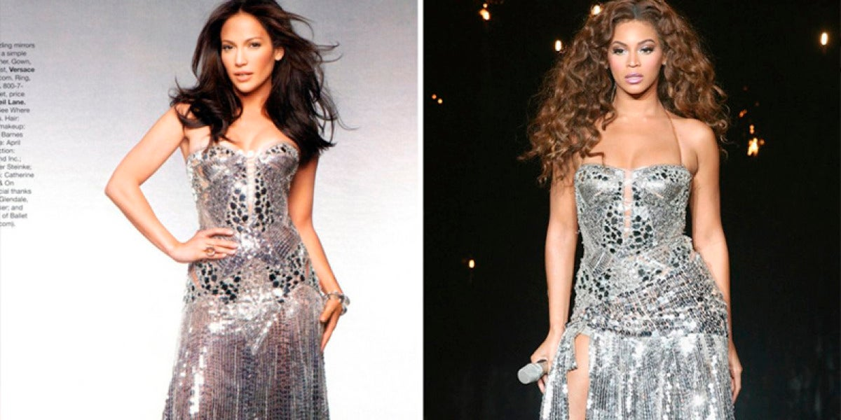 JLo y Beyoncé lucen un vestido muy parecido