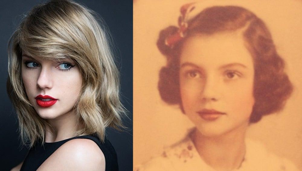 El parecido más que razonable de Taylor Swift con su abuela