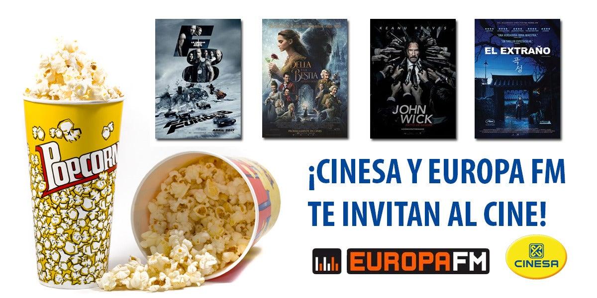 ¡Gana entradas de cine con Cinesa y Europa FM!