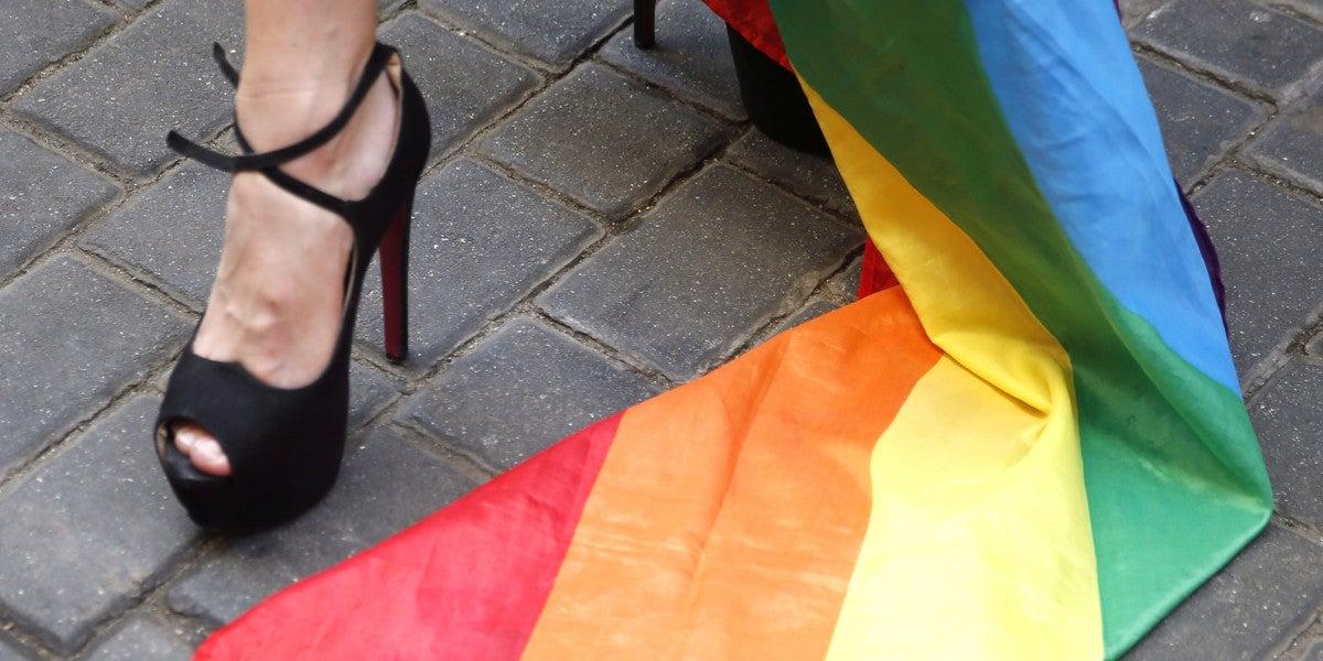 Una bandera del colectivo homosexual