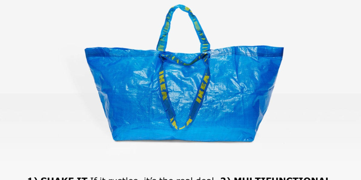 La campaña de Ikea para identificar una bolsa FRAKTA