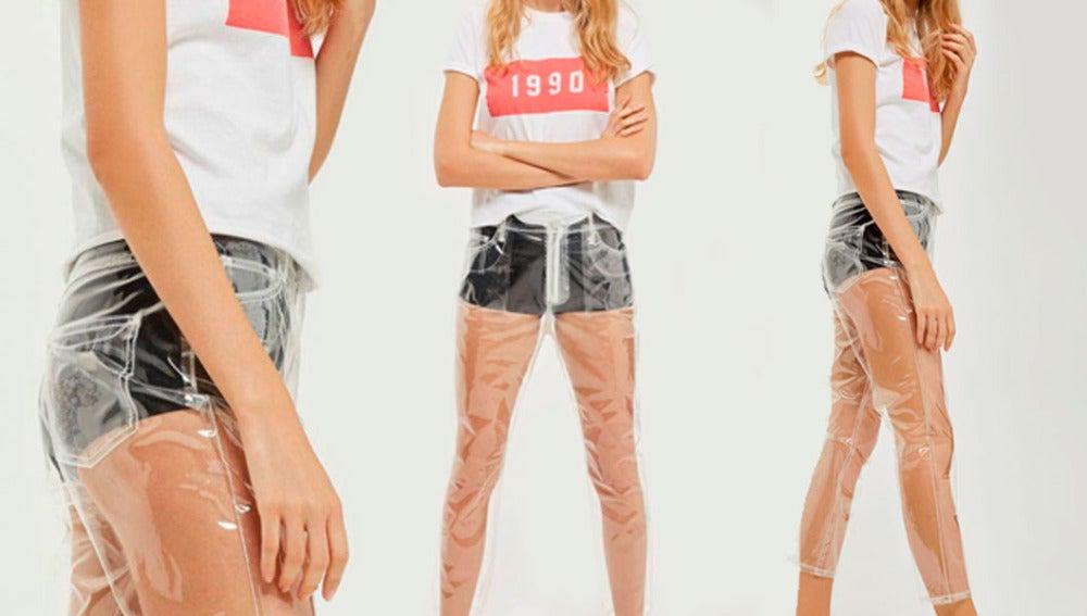 Pantalones de plástico de TopShop