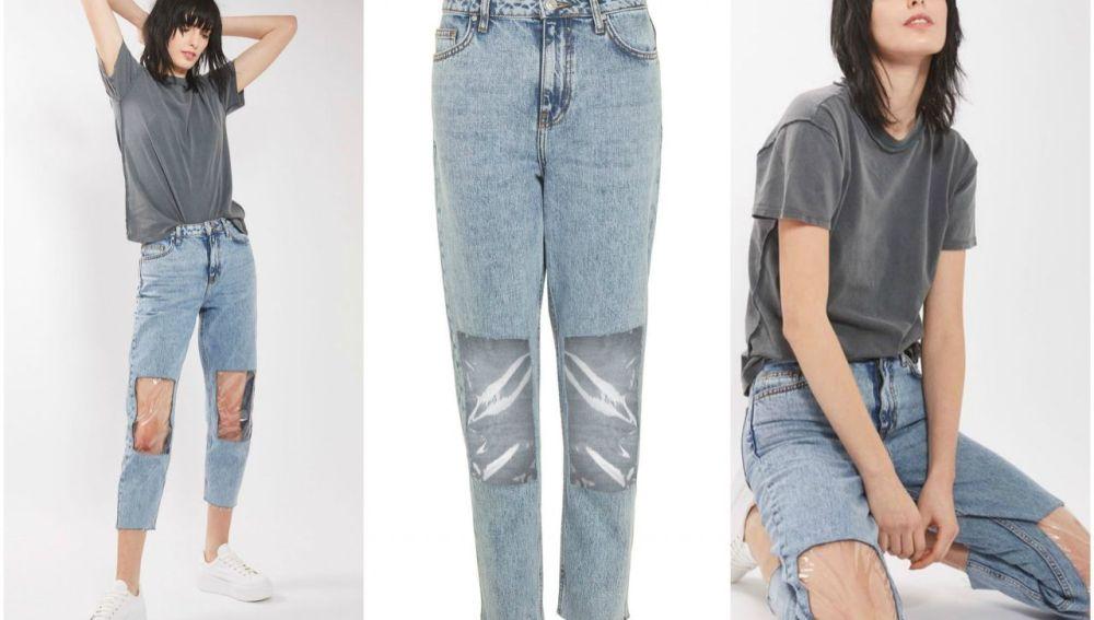 Pantalones con rodilleras de plástico