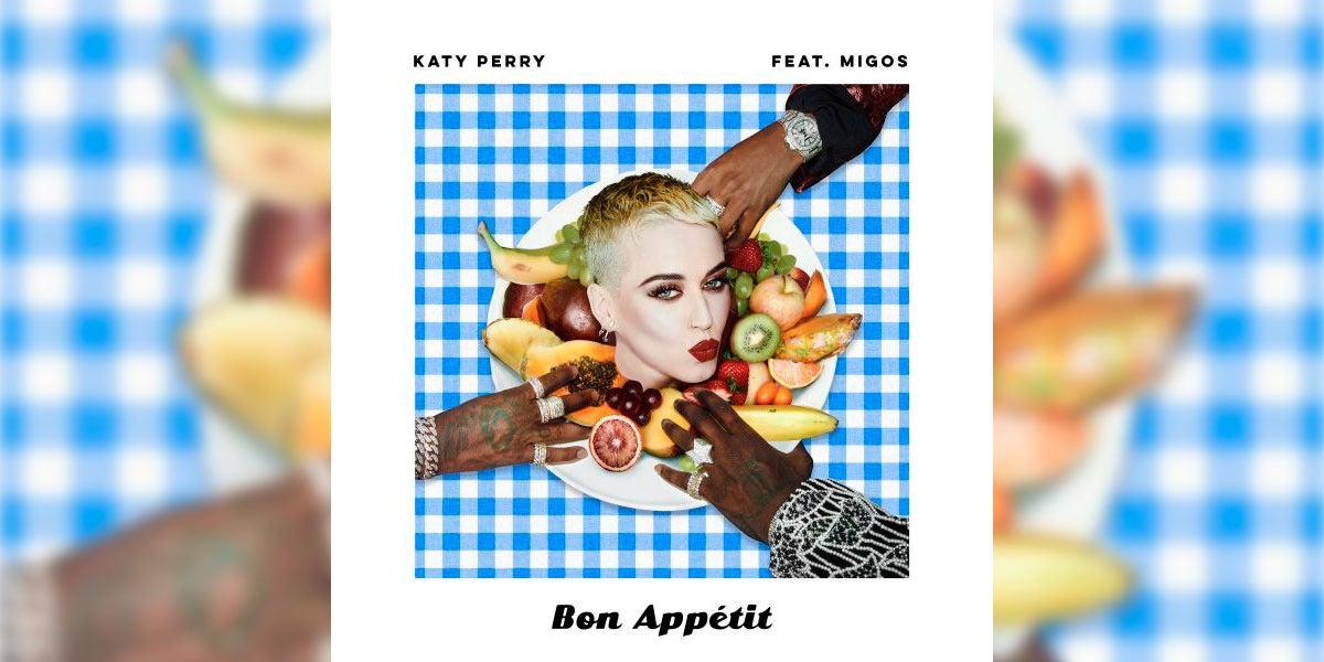 Portada del nuevo tema de Katy Perry, Bon Appétit