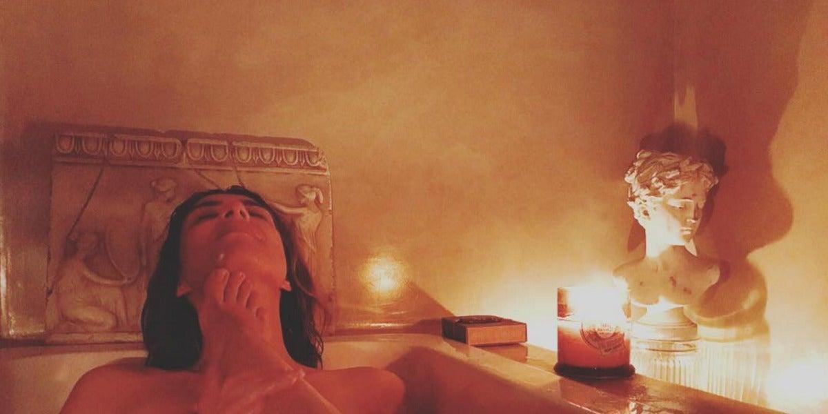 La foto de Sandra Barneda en la bañera