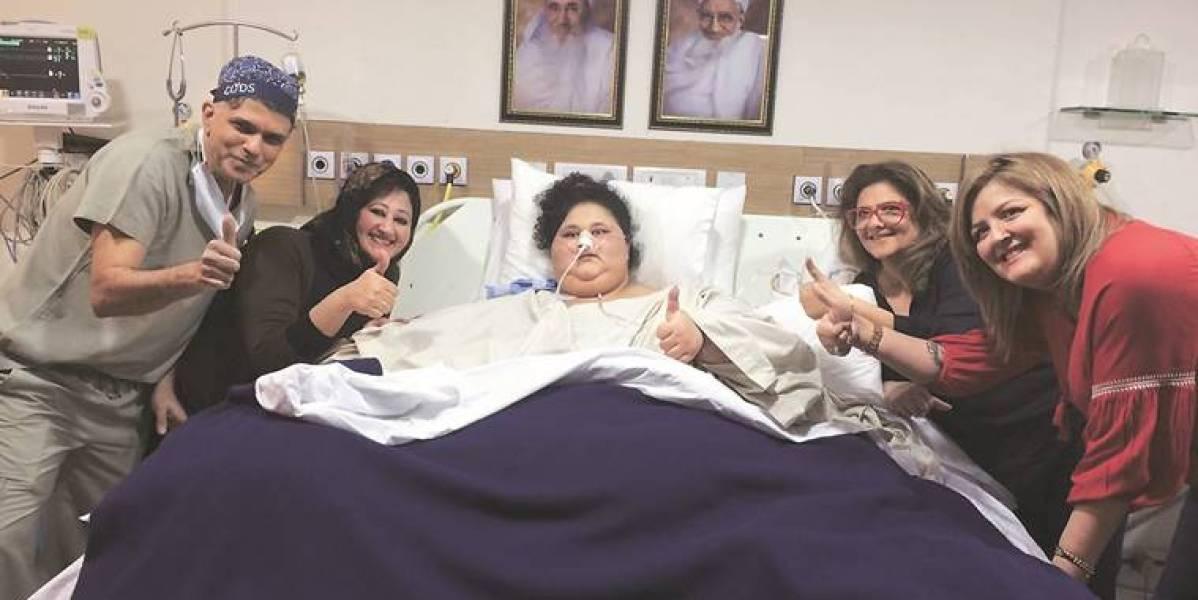 Eman Ahmed en el hospital
