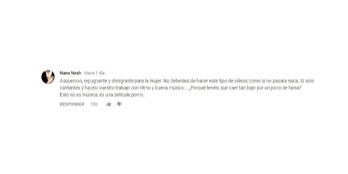 Comentario sobre el videoclip machista, 'Creampie'