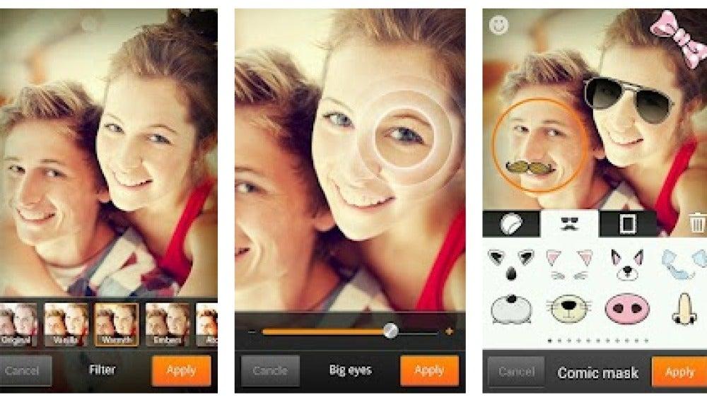 Cymera, una de las app más populares para retocar caras