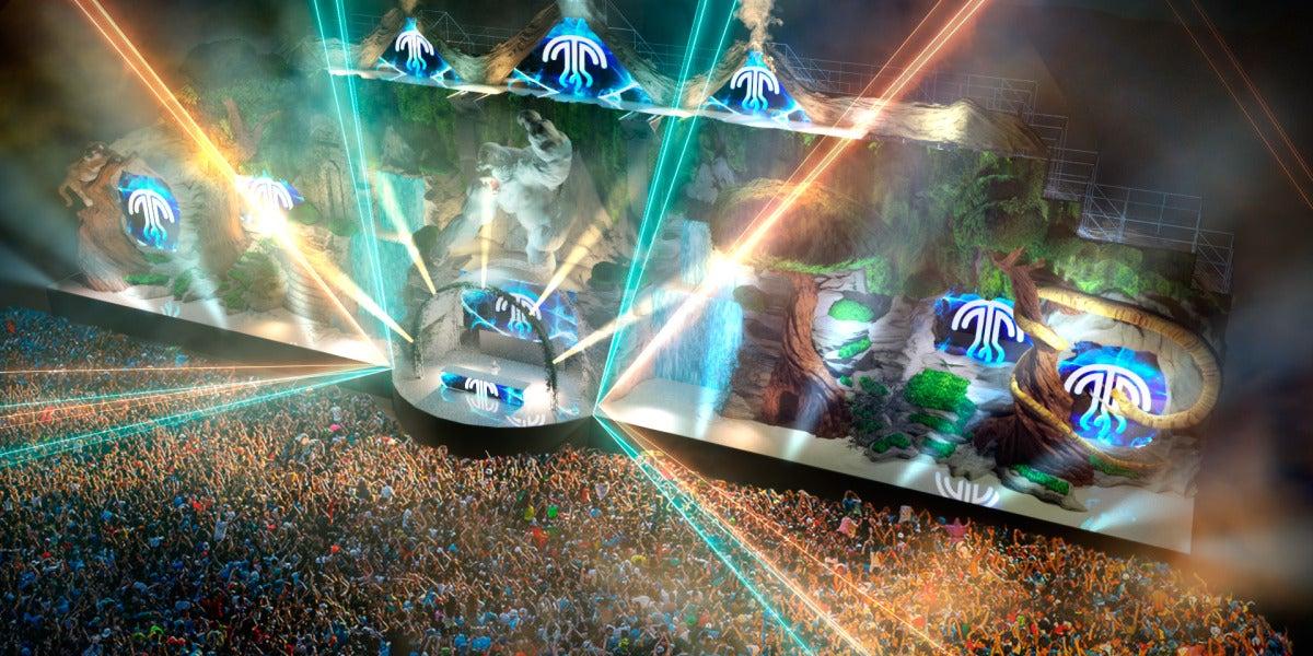 Recreación en 3D del escenario más sofisticado de Medusa Sunbeach Festival