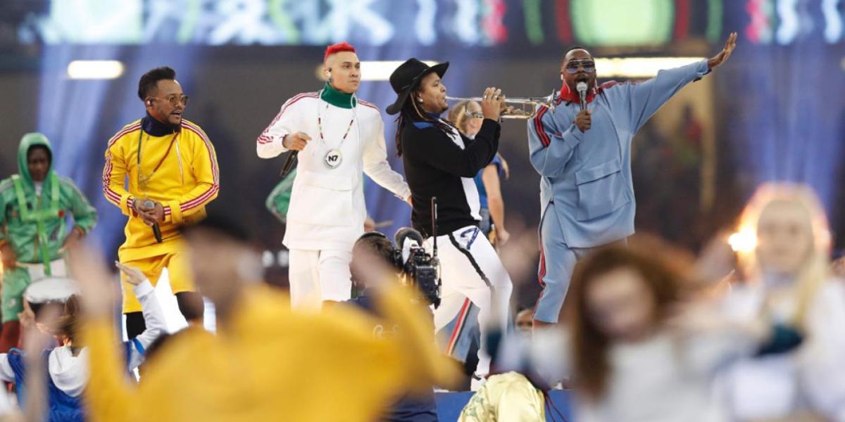 Los Black Eyed Peas en la final de la Champions