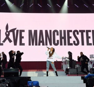 Ariana Grande en One Love Manchester
