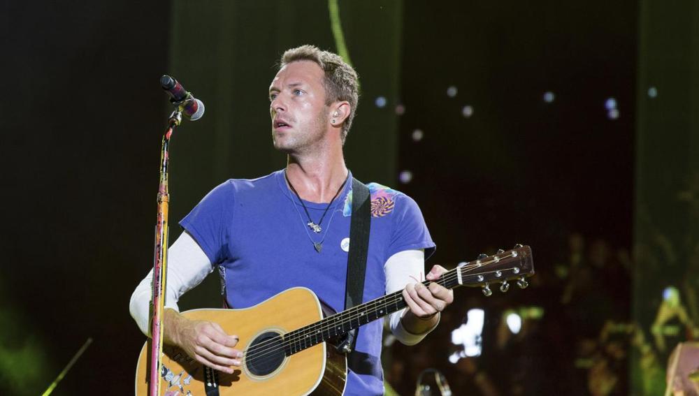 Coldplay en el concierto de Ariana Grande