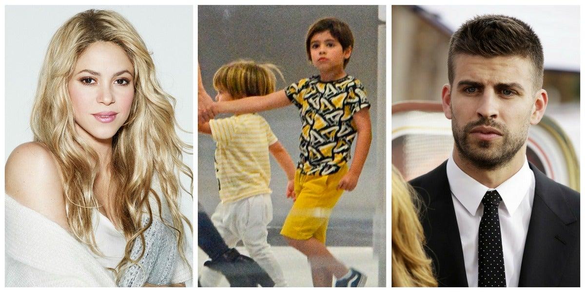 Shakira, Milan y Gerard Piqué