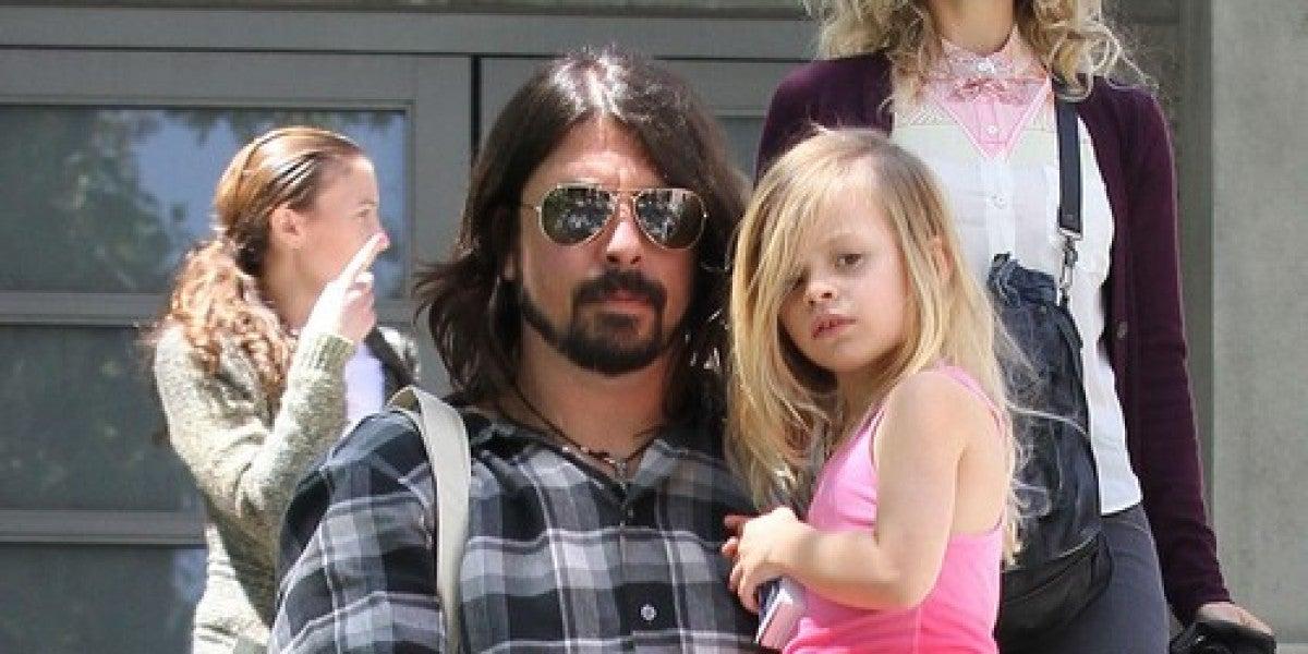 Dave Grohl con su hija Harper