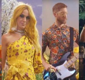 Pharrell Williams, Katy Perry, Calvin Harris y Big Sean en el vídeo de 'Feels'