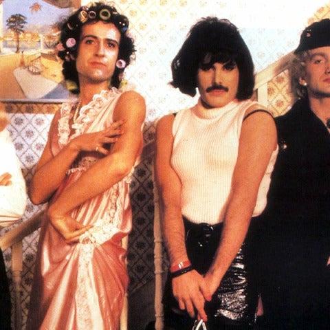 Los miembros de Queen en el vídeo de 'I want to break free'