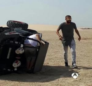 Gerard Piqué, tras su accidente con un buggy