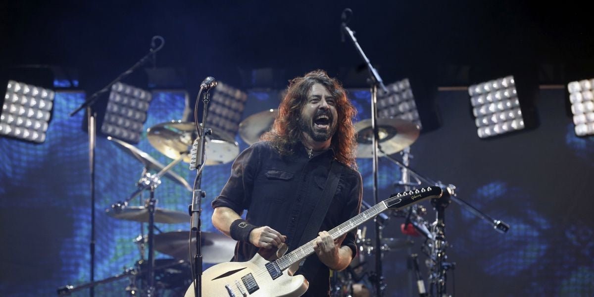 Dave Grohl, integrante del grupo estadounidense Foo Fighters
