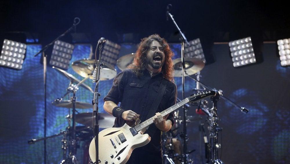 Dave Grohl, integrante del grupo estadounidense Foo Fighters