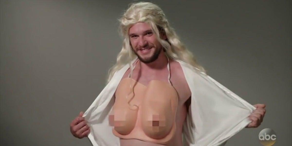 Kit Harington, el actor que interpreta a Jon Snow, parodia a sus compañeros en un divertido sketch